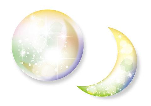 Glitter moon
