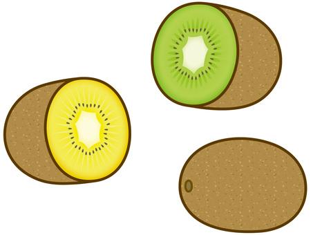 Kiwi cut in half