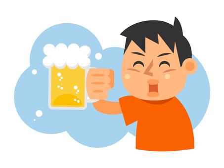 A man toasting with beer