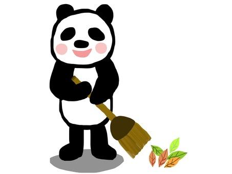 Cleaning panda broom broom