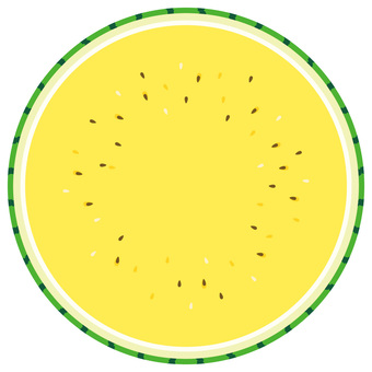 Sliced yellow watermelon