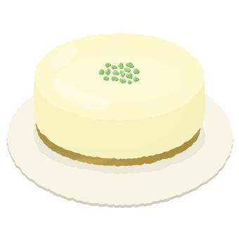 Pistachio whole rare cheese cake 2