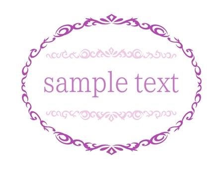 Arabesque oval frame-purple