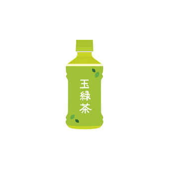 Jade green tea plastic bottle