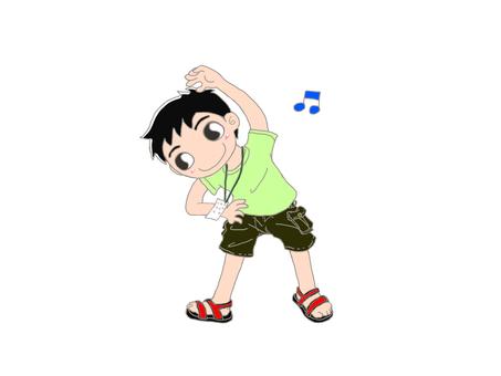 Radio gymnastics boy