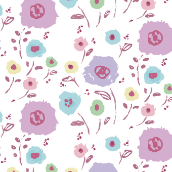 【Pattern】 Hand-painted flower B1