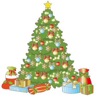 Christmas tree and present 1