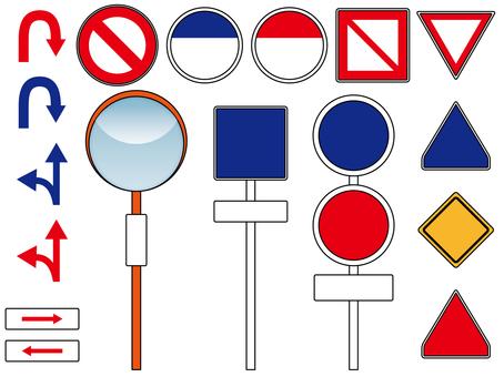 Road sign material set