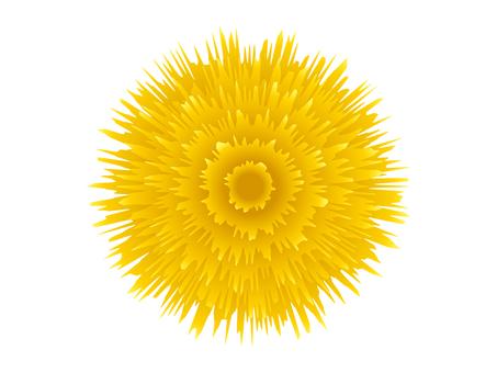 黄色ガーベラアイコン素材