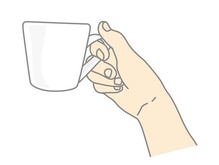 머그컵을 든 손