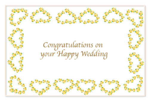 Marriage celebration message card