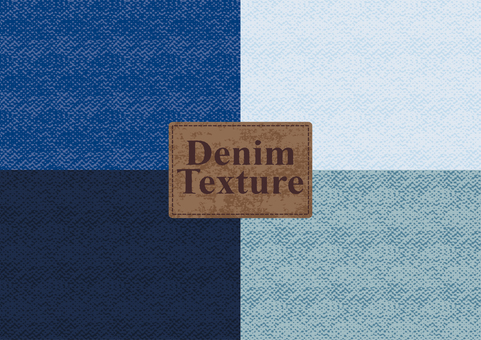 Denim-style pattern material