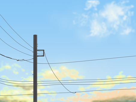 Sky and telegraph pole