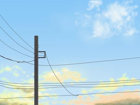 空と電信柱