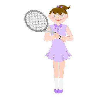 A woman in tennis