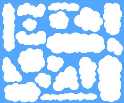 Blue sky and white clouds frame set