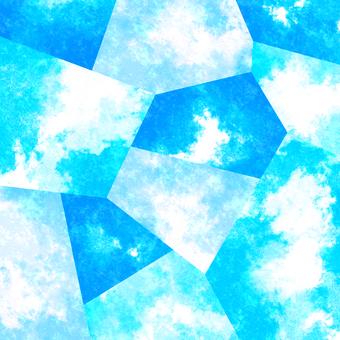 수채화 풍의 배경 소재 02 / 파랑 b