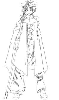 Amami Yae 2 (line drawing)