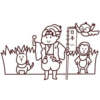 Momotaro coloring page