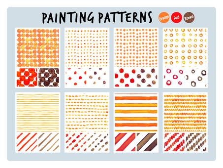 Watercolor pattern [Orange · red · brown]