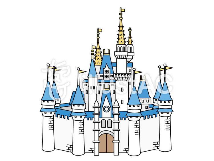 シンデレラ(シンデレラ城)のイラスト