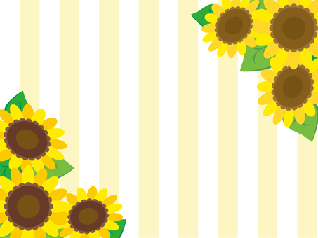 Sunflower and stripes (yellow)