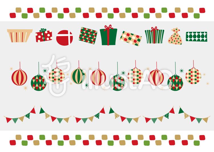クリスマス 素材 まとめのイラスト