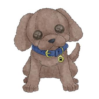 Dog (toy poodle) animal stuffed toy illustration