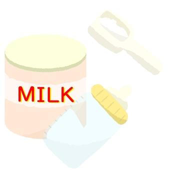 Powdered milk and baby bottle 2