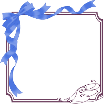 Ribbon frame (blue)
