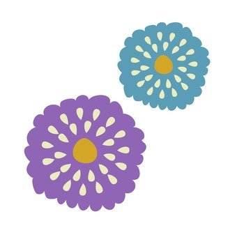 紫色和藍色的花2
