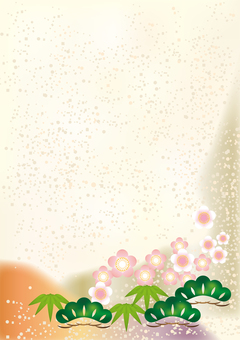 New Year Pattern Shochiku Mei 3