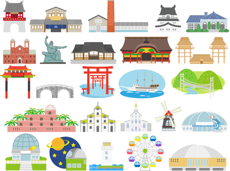 Mainly tourism icons in Kitakyushu
