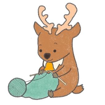 Reindeer knitting