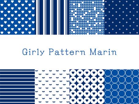 Girly pattern marine