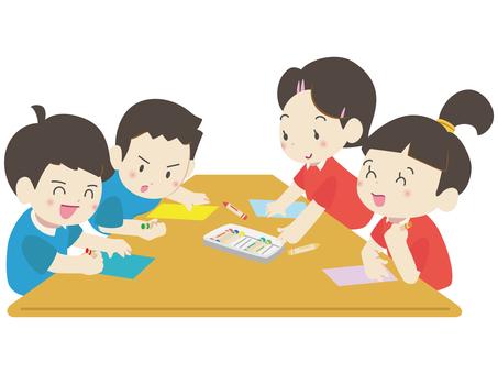 人物-子供-お絵描き