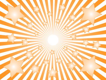 Orange radiation background material Star
