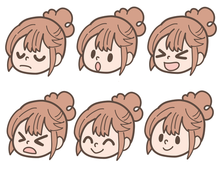 Girl of various expressions