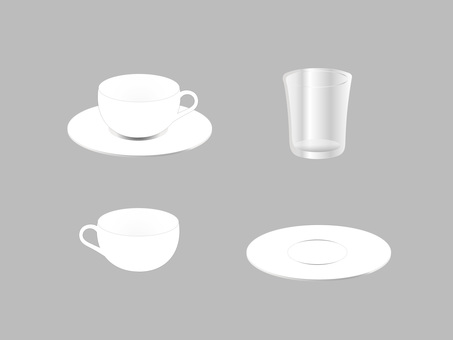 Cups & Saucers_Coffee Cups_Glass