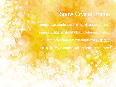 Snow crystal frame ver 10