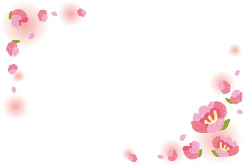 Peach blossom frame
