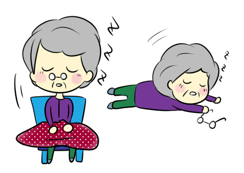 祖母睡覺圖