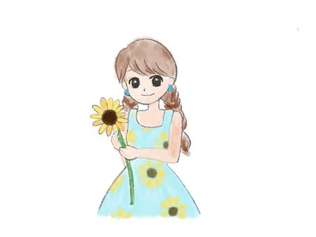 Sunflower woman