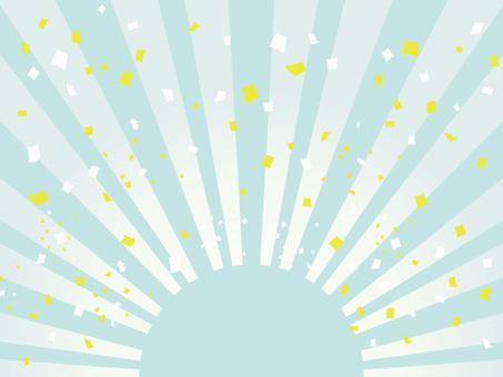 Sunrise and confetti of pastel 02