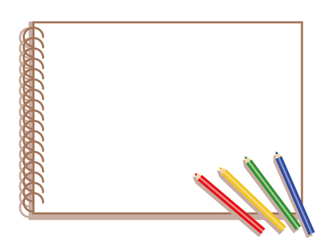 Sketch book style wind frame (color pencil)