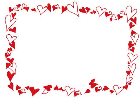 Khung trái tim màu đỏ