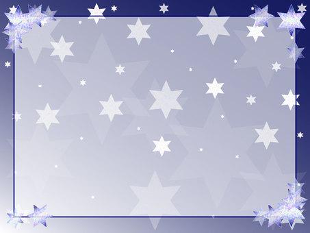 Winter star message card