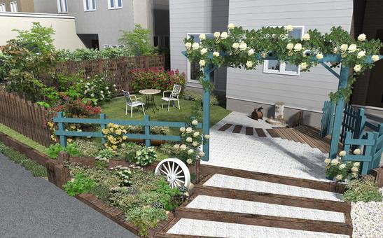 Blue Rose Arch garden