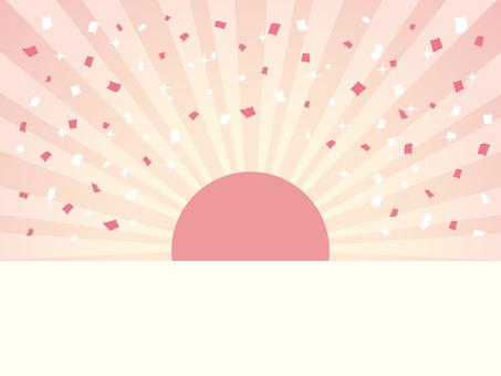 Half-length sunrise and confetti 03