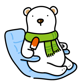 Relaxing polar bear